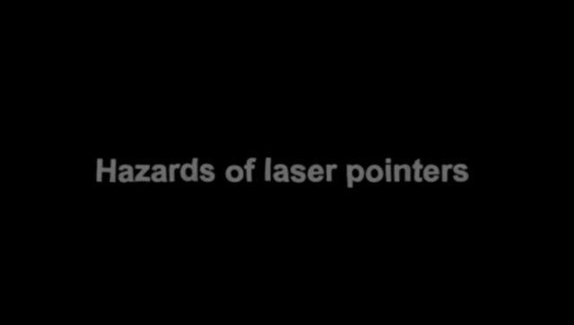 Hazards of laser pointers