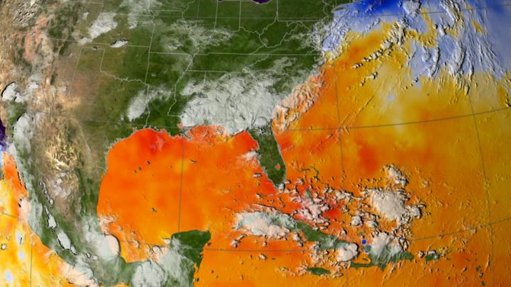 Map of ocean surface temperatures