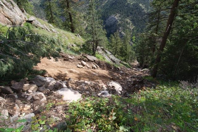 Landslide in Colorado's Front Range
