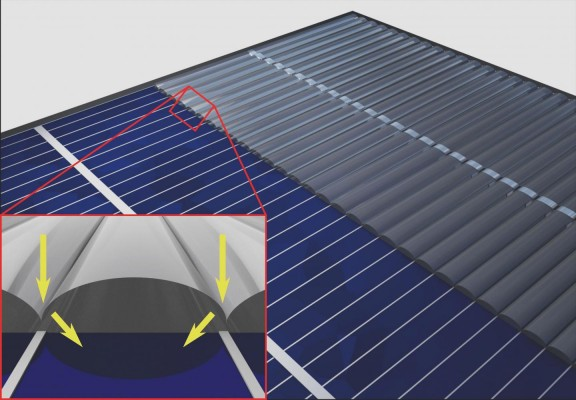 Invisibility cloak might enhance efficiency of solar cells