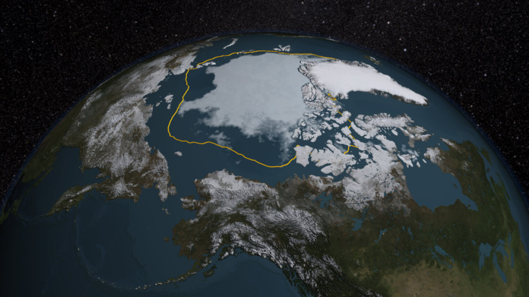 Arctic sea ice summertime minimum
