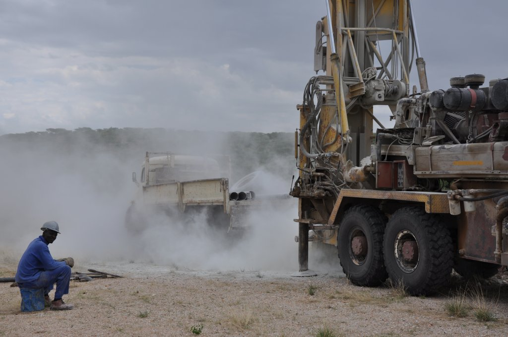 Drilling activities for seismic investigations.