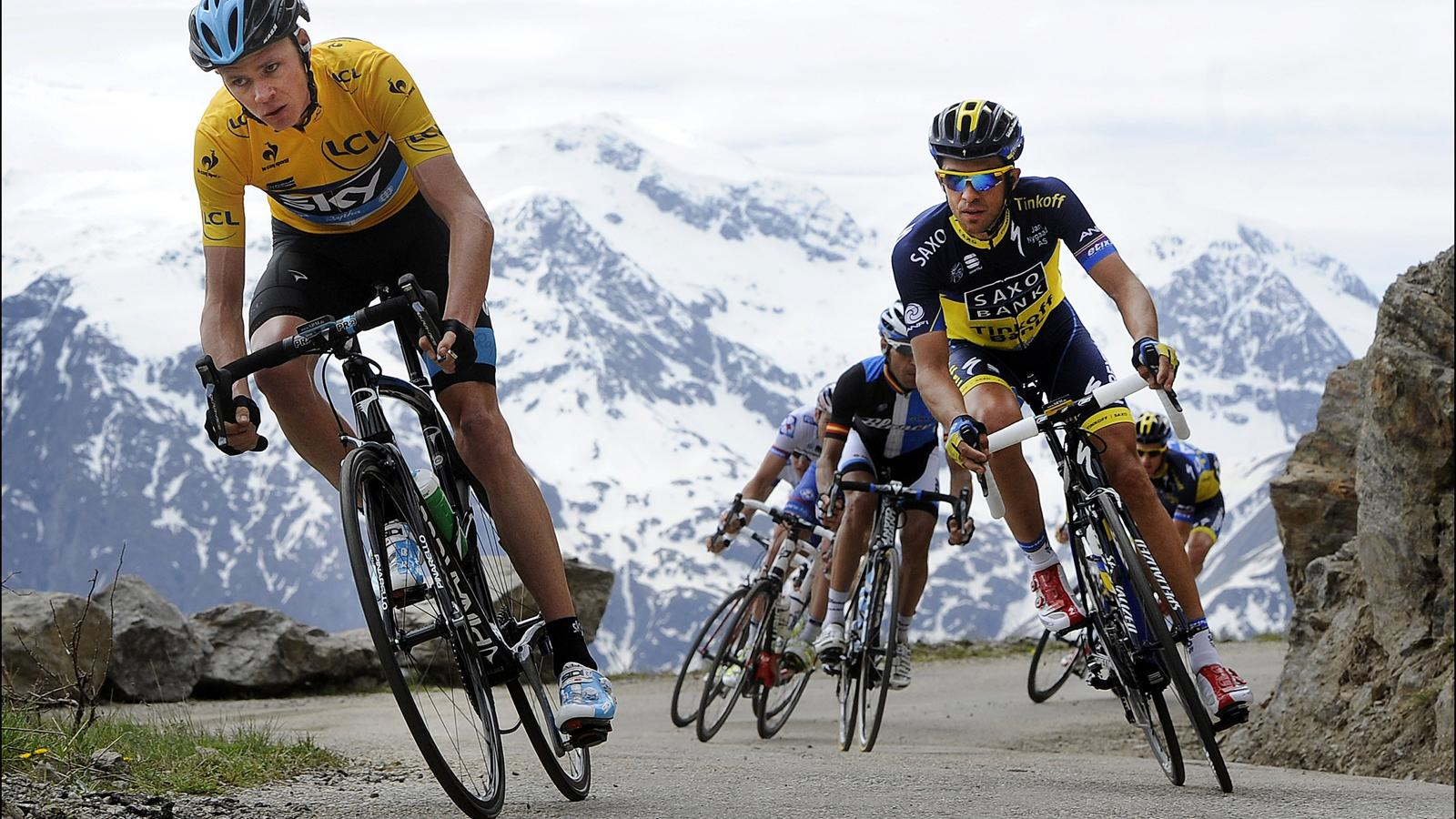 Froome and Contador in the Giro