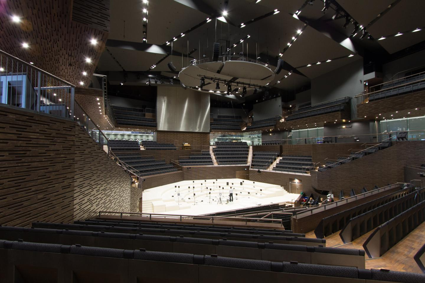 Helsinki Music Centre represents a more modern concert hall design.