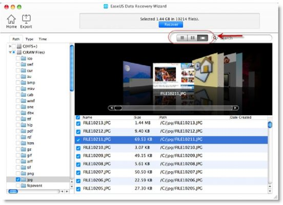 Recovery deleted files With EaseUS Data Recovery Wizard for Mac