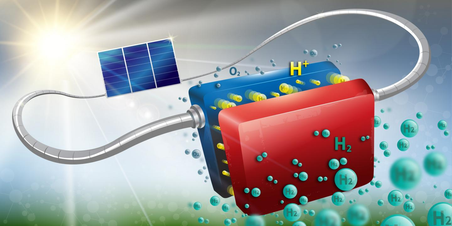 The device is able to convert solar energy into hydrogen at a rate of 14.2 percent, and has already been run for more than 100 hours straight.