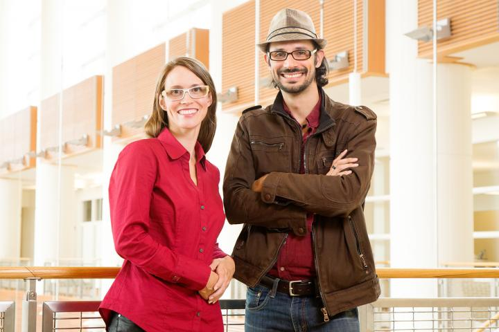 University of Illinois psychology professors Simona Buetti and Alejandro Lleras found that as people's engagement with a task increases, their distractibility tends to go down. Credit: Photo by L. Brian Stauffer