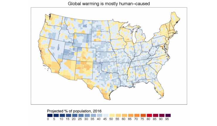 Does your county believe in climate change? Check the map