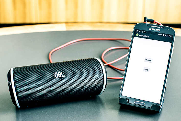 CovertBand app and speaker