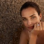 Woman with diamond ring