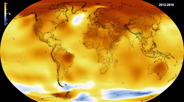 Record temperature surge from 2014 to 2016