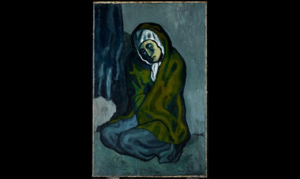 'Blue Period' Picasso hides this other (sideways) painting