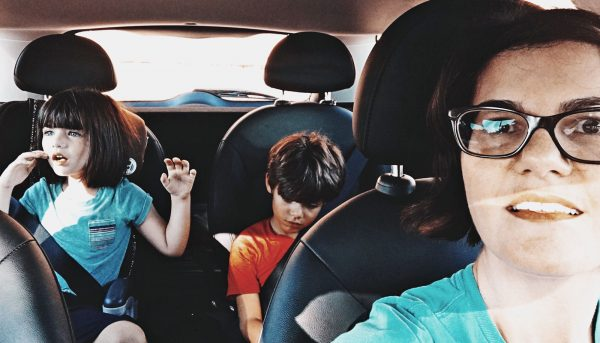 Half of parents talk on the phone while driving kids