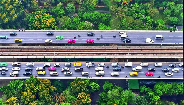 Late night electricity use predicts morning traffic jams